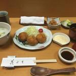 カニクリームコロッケと御飯セット(花ぶさ (はなぶさ))