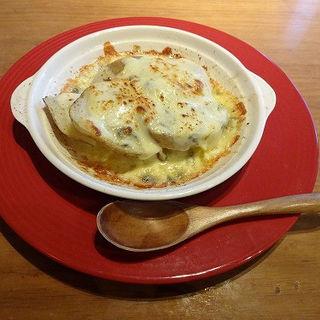 3種のチーズとじゃがいものオーブン焼き (ガルニ (garniture))