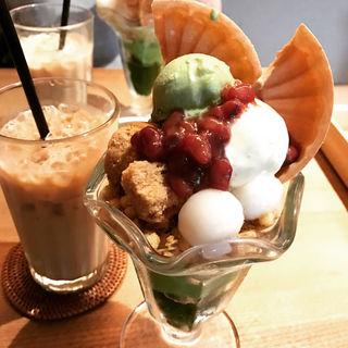 お茶香る茶寮の和パフェ(神楽坂 茶寮 本店)