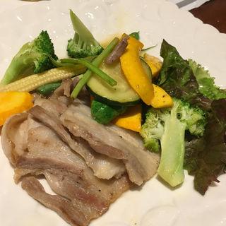 こめ豚と夏野菜のレモンバター(六ヶ城 (ろっかんじょう))
