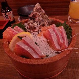 トロサーモン刺(海鮮食飲市場 マルカミ食堂 ドックヤード店 )