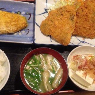 和定食:アジフライ・オムレツ(ご飯少なめ)(レストラン 千味 )
