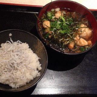 和定食(とり天そば・しらす御飯:ご飯少なめ)(レストラン 千味 )