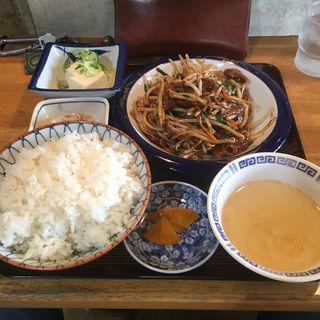 レバニラ炒め定食(中華料理 なかみち )