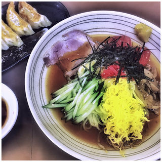 冷やし中華+餃子(ラーメン めん丸 気仙沼店 )