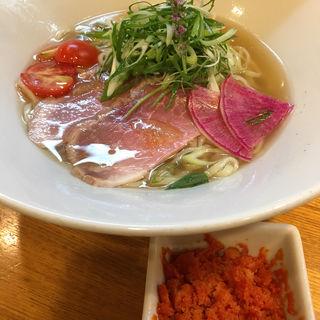 冷製WAGYU塩ラーメン トマトソルベ添え(麺処 飯田家)