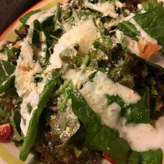 ルッコラと水菜のサラダ(焼鳥はなび)