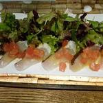 真鯛のカルパッチョ・サラダ仕立て