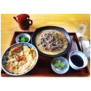 カツ丼ざる蕎麦セット(すがわら )