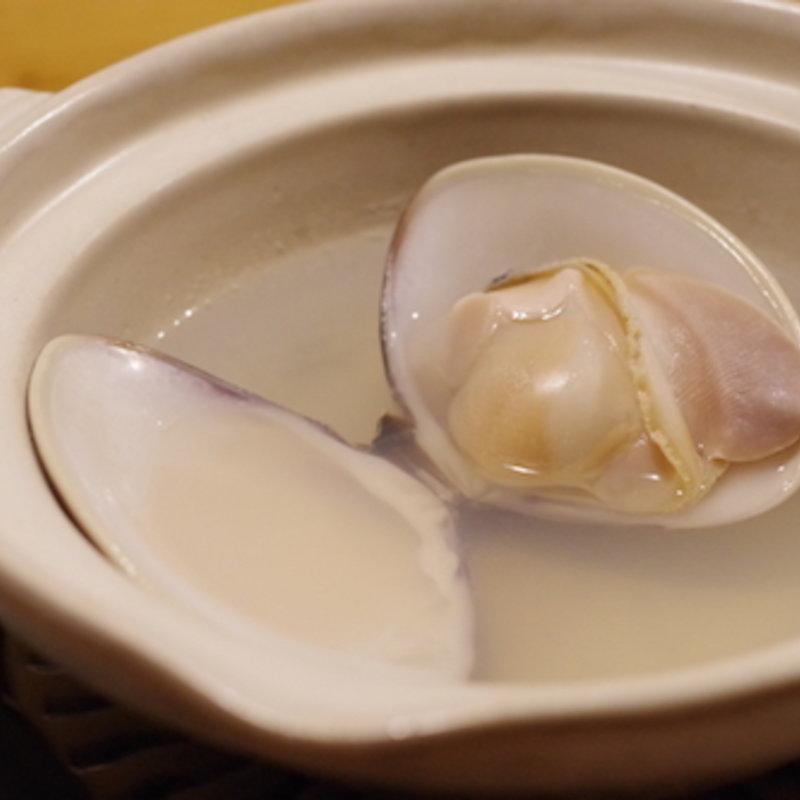 鴨島蛤の酒蒸し