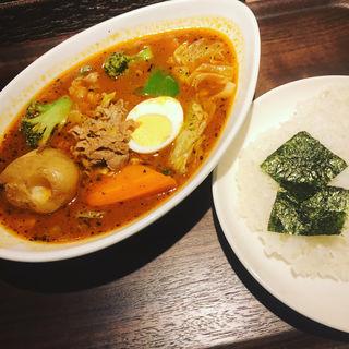 ラムと野菜のスープカレー(カレー食堂 心 ヨドバシAkiba店 )