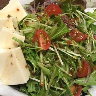 トマト・水菜・豆腐のサラダ(鳥八 )