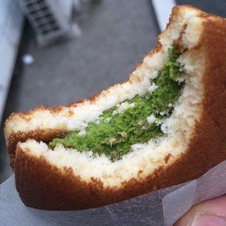 八女茶アイスどら焼き(お菓子のきくや)