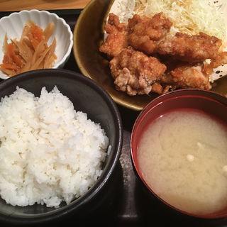 鶏の唐揚げ明太風味定食(やまや 池袋店 )