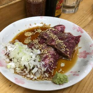 牛ハラミ刺し(もつ焼きでん中目黒店)