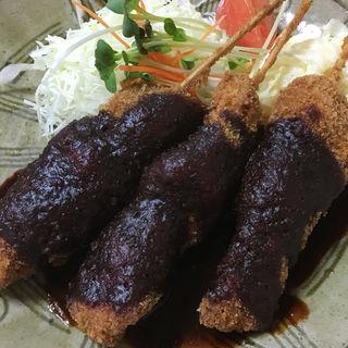 串かつ定食 味噌(とんかつオゼキ 鈍池店 )