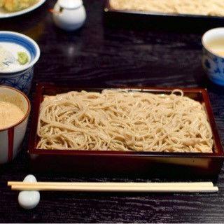 くるみ蕎麦と前菜セット(真田 (サナダ))