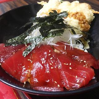 まぐろの漬けトロ天丼(くろば亭)