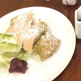 抹茶好きのためのパンケーキ(厚焼き)(hana cafe )