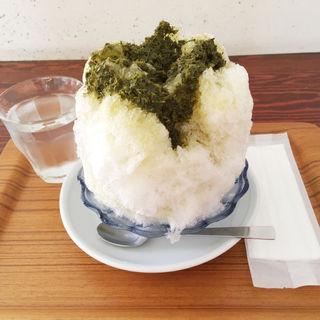 かき氷(煎茶)(日本茶カフェ一日 (ひとひ))