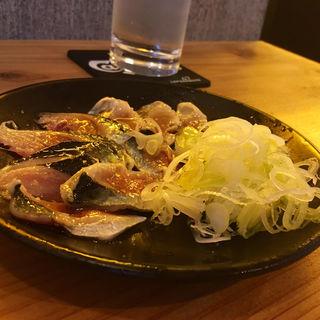 イワシの炙り塩山椒(蕎麦前酒場 cazilo)
