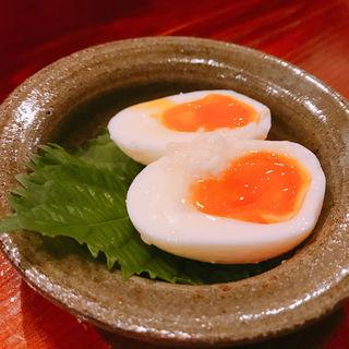 ゆで卵の塩こうじ漬け(水無月)