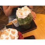 チーズタルトかき氷 宇治抹茶