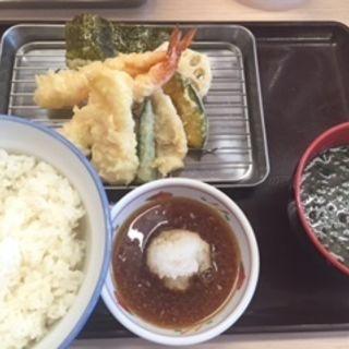 国産いかと海老天ぷら定食(さん天 鳴海店 )