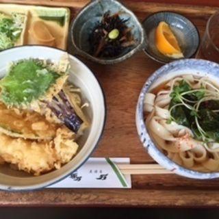 天丼とうどんランチ(めん処孫万 )