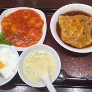天津飯ランチセット(梅蘭 ミュープラット金山店 (バイラン))
