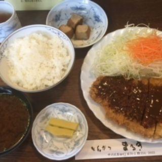 ランチ(味噌かつ定食)(とんかつまるき )