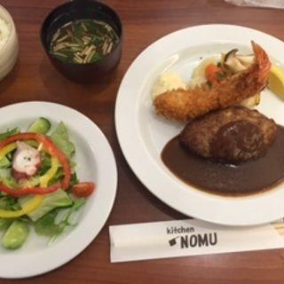 ハンバーグランチプラスワン(キッチン ノム (kitchen NOMU))
