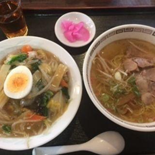 中華飯+沖縄の塩ラーメン(東々 (トントン))