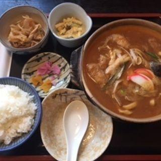 味噌煮込み(親子)定食(中根うどん 守山店 (なかねうどん))