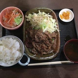 黒毛和牛カルビ定食(すみせん )