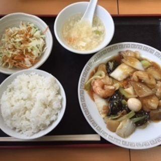 八宝菜定食(中華料理 味満園 )