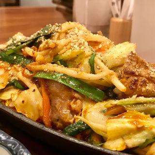 ホルモン鉄板定食(もつ鍋一慶 JRJP博多ビル店 )