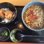 タレかつ丼カレー蕎麦定食