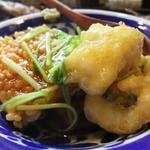 平目の天ぷらとおこげの餡かけ