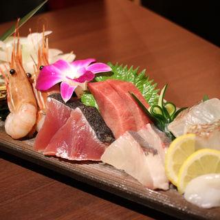 刺身6種盛り( 蕎麦・鮮魚 個室居酒屋 へぎ蕎麦 村瀬 田町本店 )