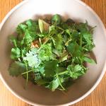 夏野菜と唐辛子の肉味噌の和え麺