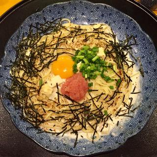 たらこと湯葉とモッツァレラチーズのカルボナーラ(五右衛門 東京駅一番街店 )