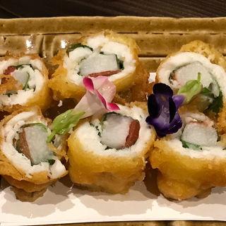 小イワシと長芋の梅肉天ぷら(神田 )