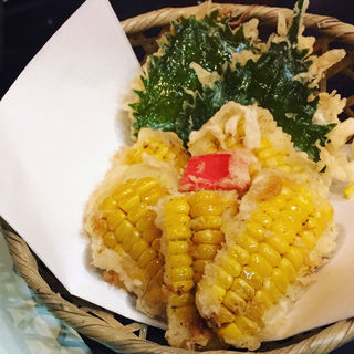 トウモロコシの天ぷら(やぶ久 (ヤブキュウ))
