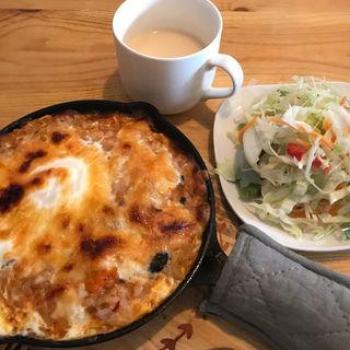 えびのトマトクリーム焼きリゾット(GRIGLIA cafe&grill)
