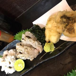 鱧料理の3種盛り(まるさん松本)