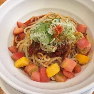 冷し担担麺 トマト & マンゴー(拳玉 )