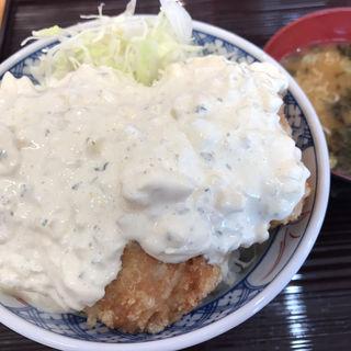爆弾鶏からタルタル丼(天ぷらのすずき )