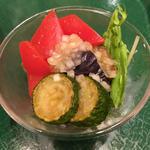 夏野菜のマリネ(T'sたんたん東京駅京葉ストリート店)