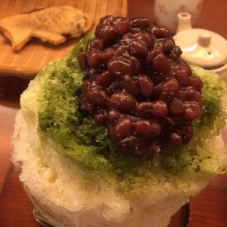 小豆抹茶金時カキ氷(ナニワヤ・カフェ (Naniwaya cafe))